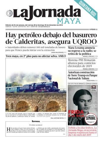 La Jornada Maya Viernes 30 De Diciembre De 2018 By La Jornada Maya