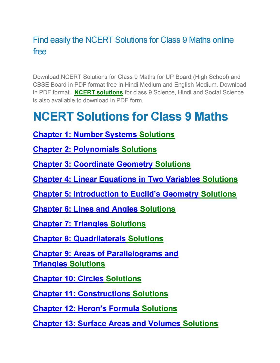 ncert solutions for class 9 maths chapter 11 pdf