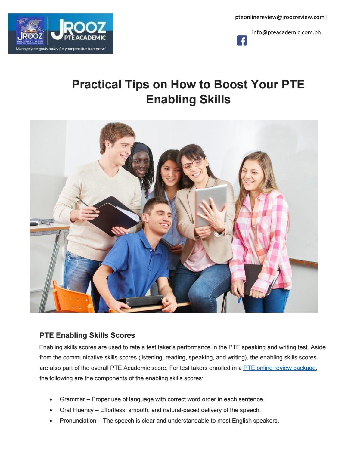 Practical Tips on How to Boost Your PTE Enabling Skills by
