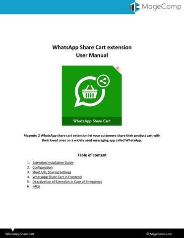 Magento 2 WhatsApp Share Cart by MageComp - issuu
