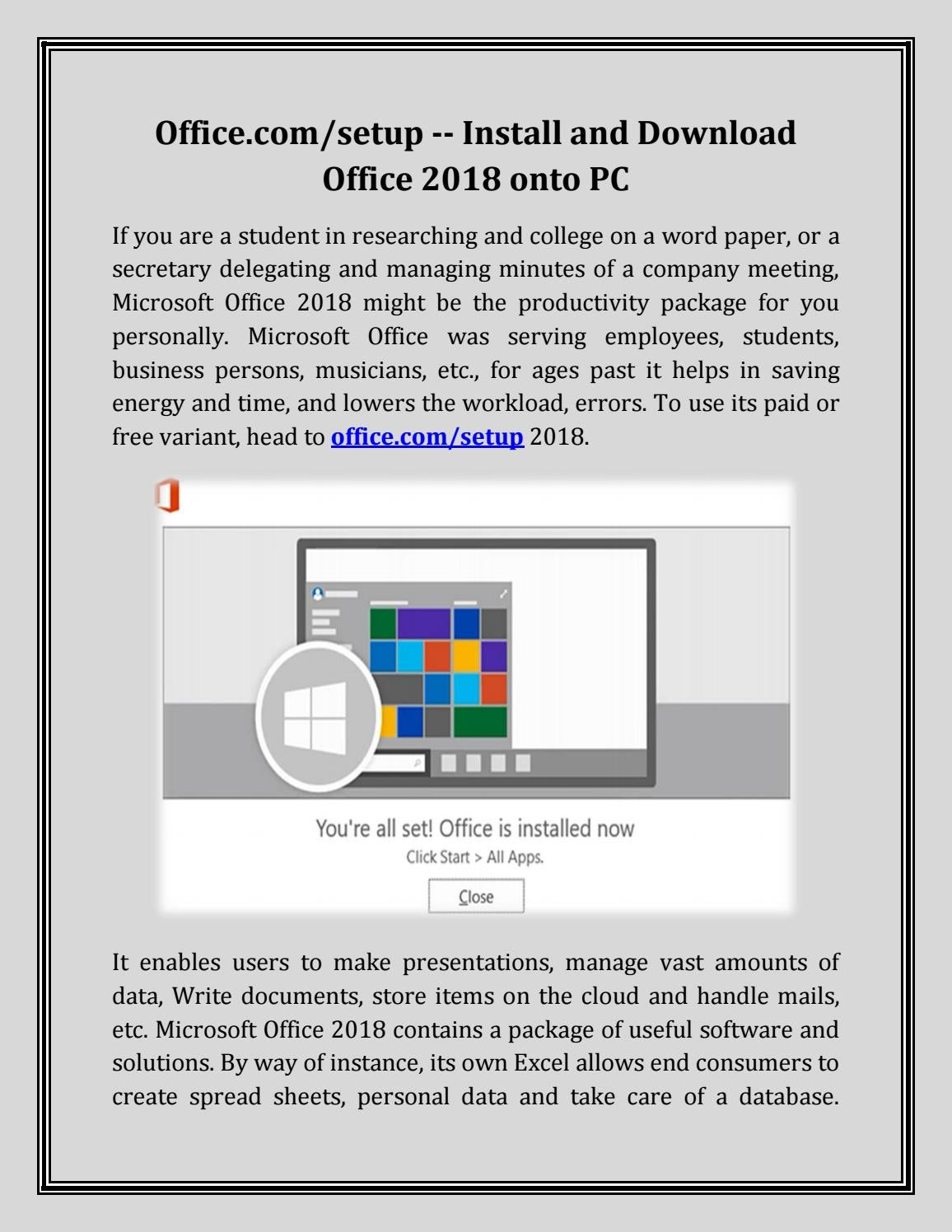 ms office setup free download for pc
