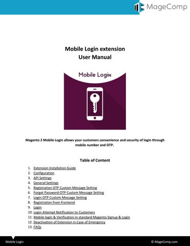 Magento 2 Mobile Login by MageComp - issuu