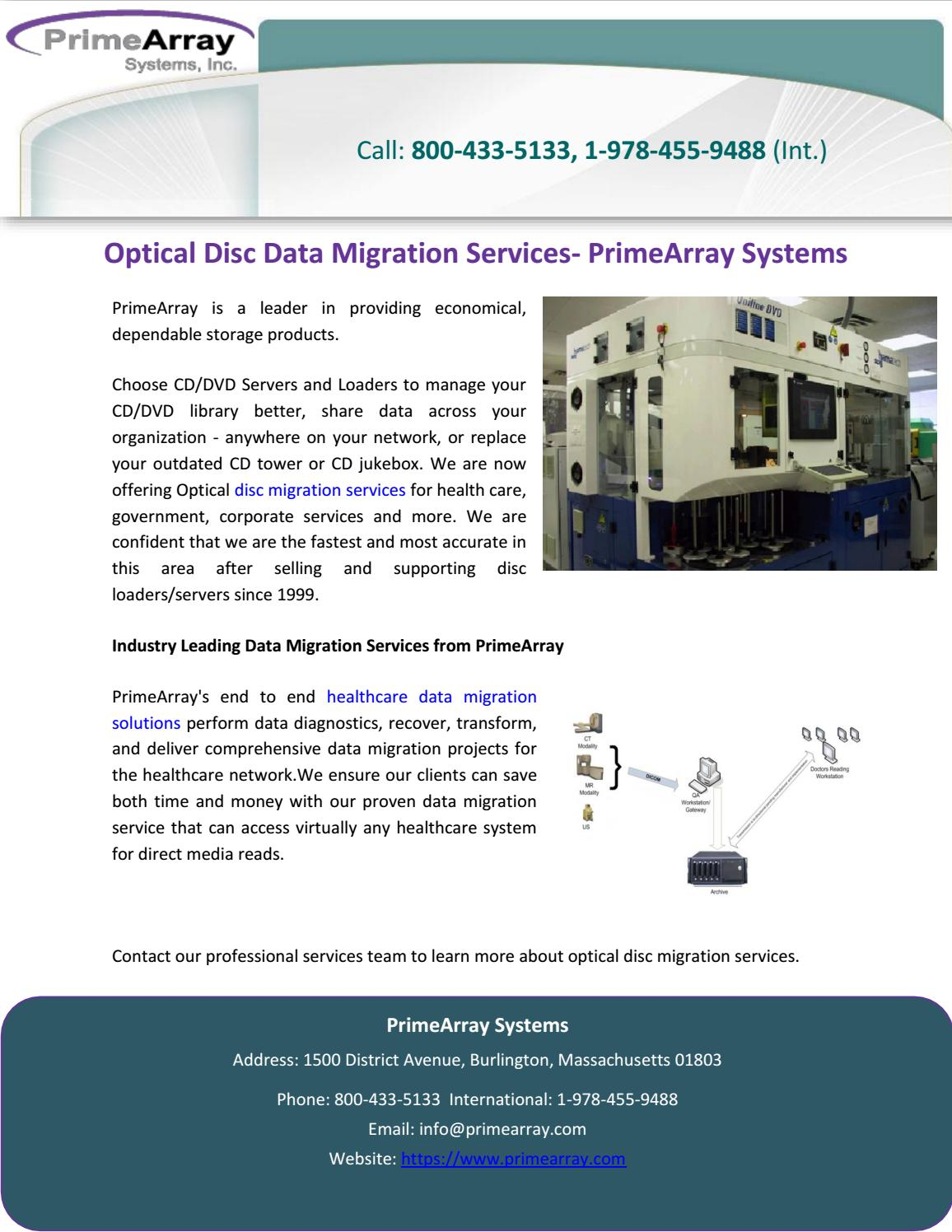 Optical Disc Data Migration Services- PrimeArray Systems by