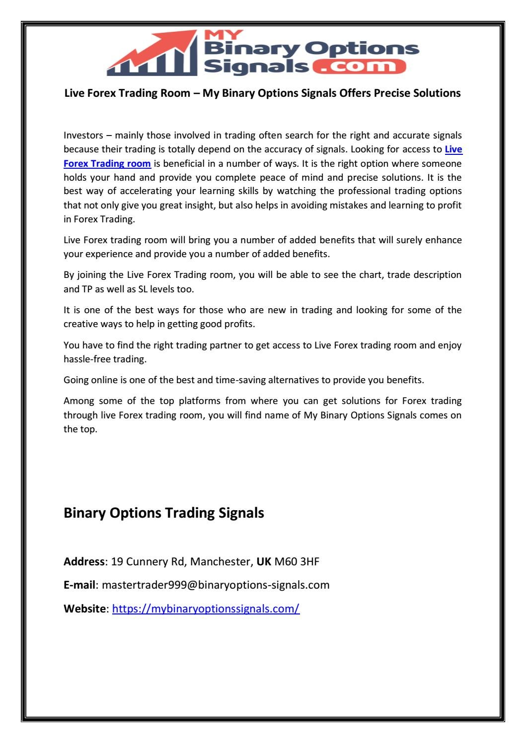 Live binary options trading room marketing communications director at ladbrokes betting