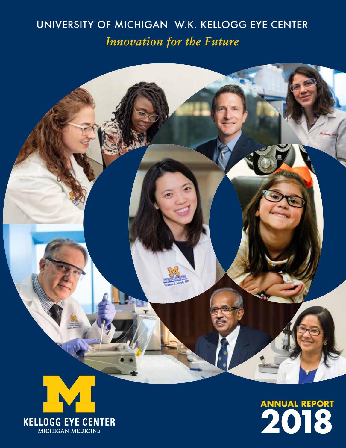 2018 U-M Kellogg Eye Center Annual Report by U-M Kellogg Eye