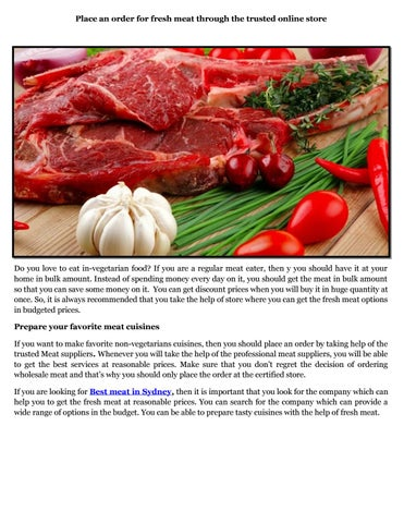 Wholesale Meats by The Meat Man - issuu