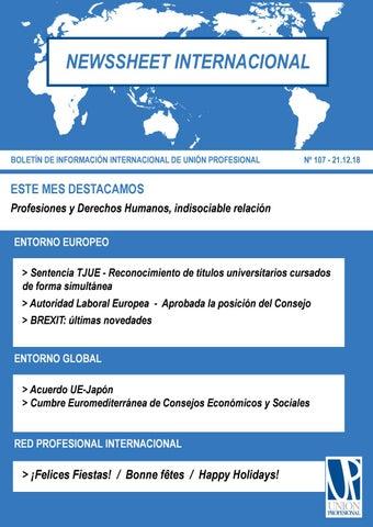 64951732cd5 Newssheet Internacional 2018 by Unión Profesional - issuu