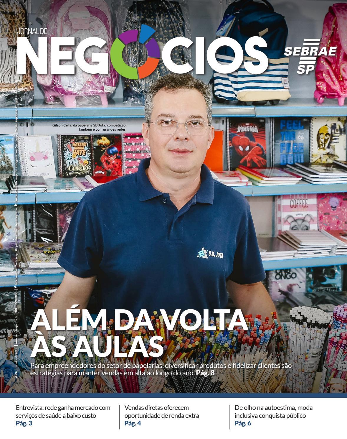 Jornal de Negócios - 01 de Janeiro de 2019 - Edição 297 by Sebrae-SP - issuu b1ed7064d673f