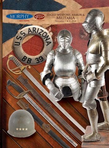 2018 November 7 8 Edged Weapons Armor & Militaria by Morphy