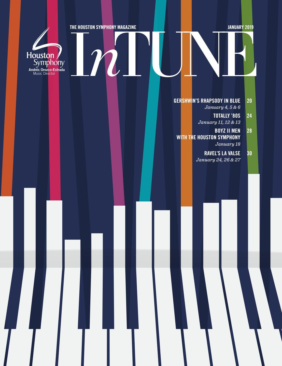 InTune — The Houston Symphony Magazine — January 2019 by