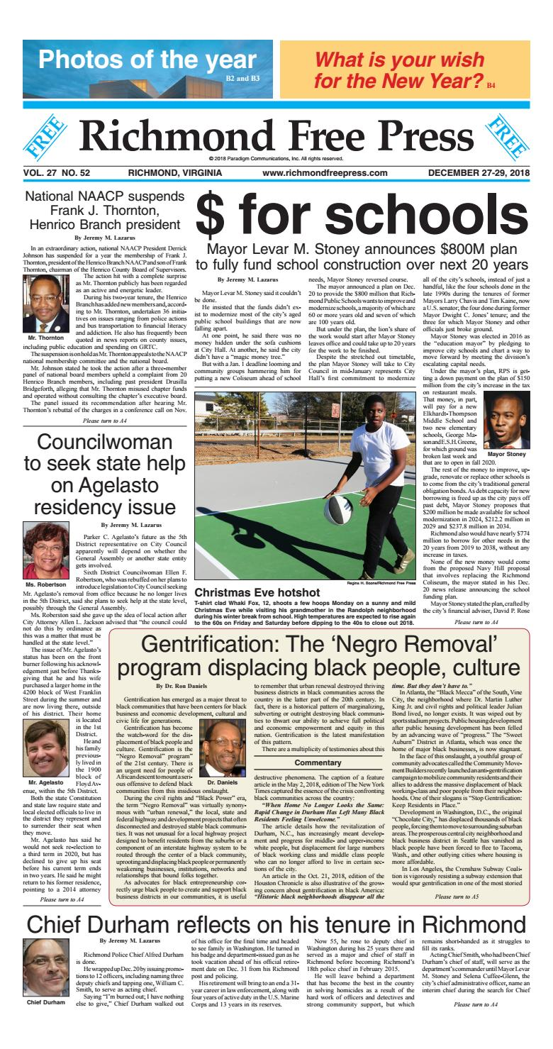 Richmond Free Press December 27-29, 2018 Edition by Richmond