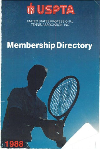 USPTA Membership Directory 1988 by USPTA - issuu