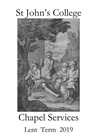 Lent Term Service List 2019 by St John's College, Cambridge - issuu