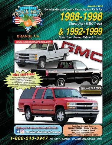 Chevy GMC C K Pickup 88-94 OEM Ignition Switch Cylinder /& Door Lock Set 2 Keys
