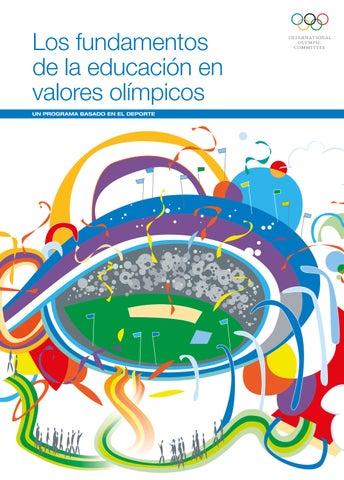 Los fundamentos de la educación en valores olímpicos UN PROGRAMA BASADO EN  EL DEPORTE 5620e5816f2d6