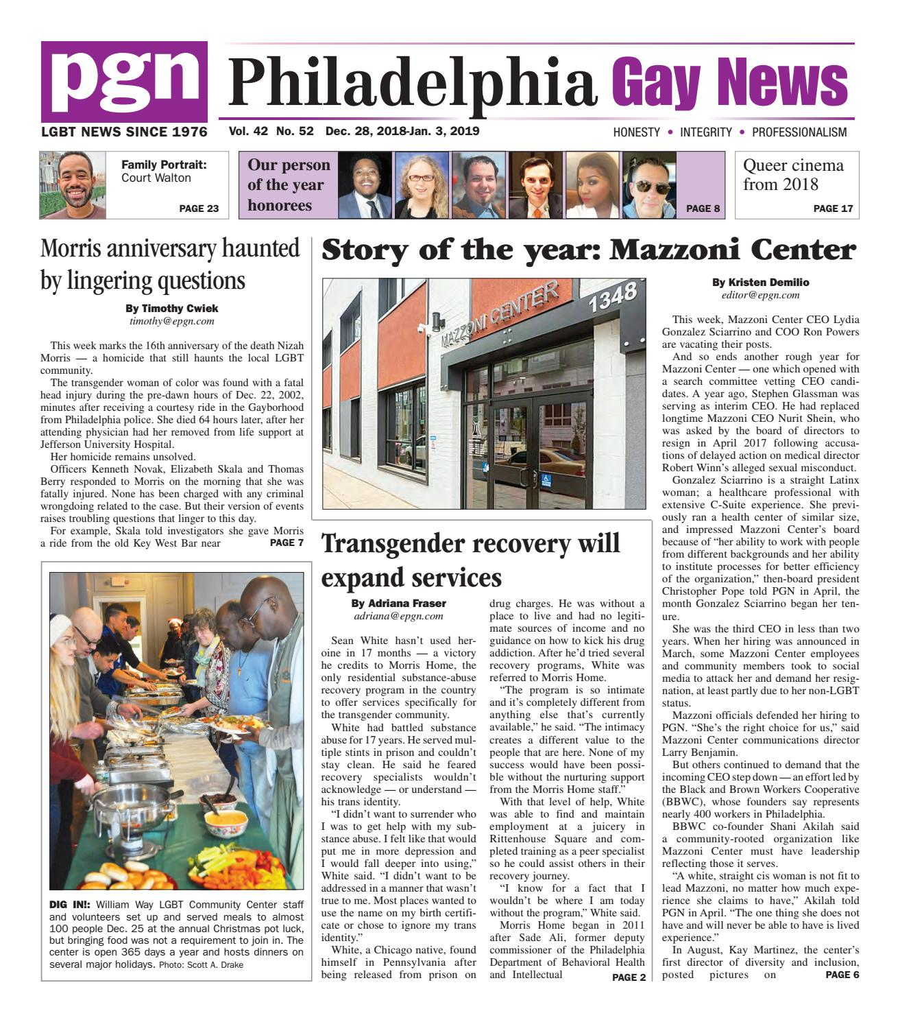 Pgn Dec 28 Jan 3 2019 By The Philadelphia Gay News Issuu