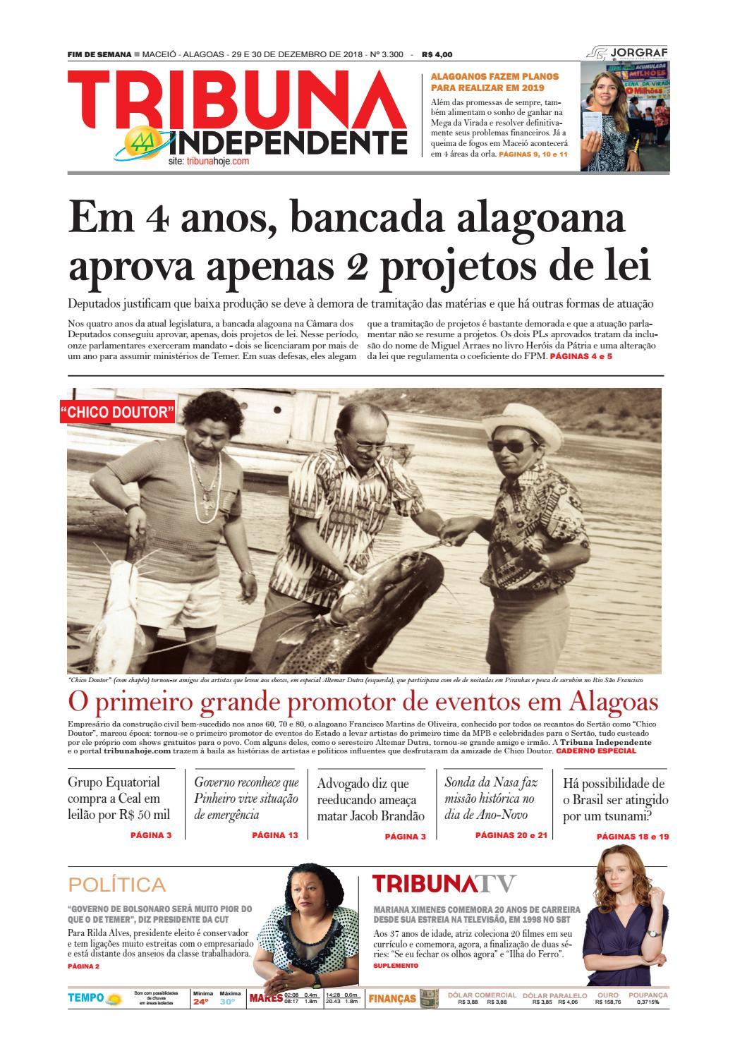 Edição número 3300 - 29 e 30 de dezembro de 2018 by Tribuna Hoje - issuu 84e7e946d4