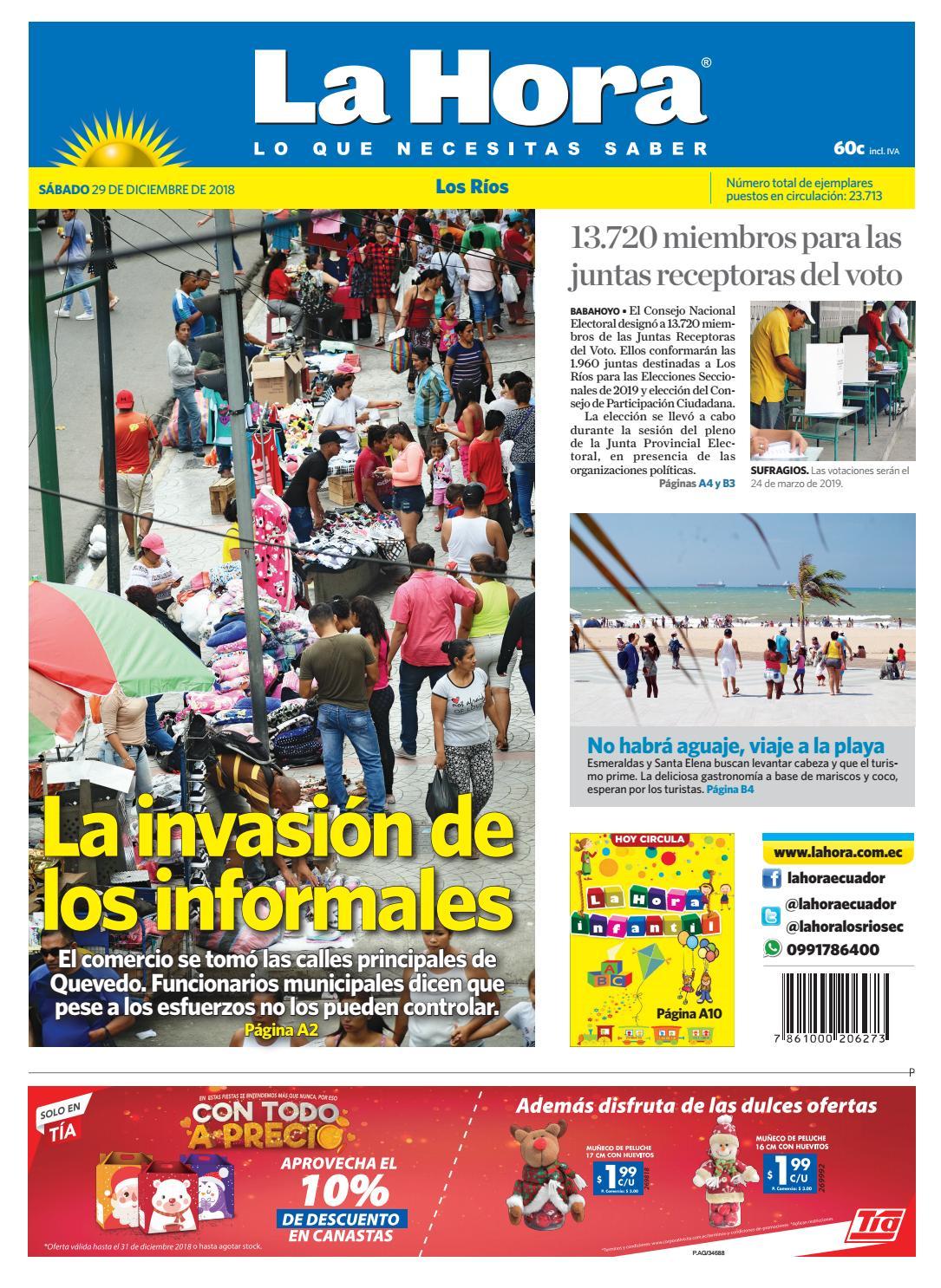 Los Ríos 29 de diciembre de 2018 by Diario La Hora Ecuador - issuu 51ddebc55539b