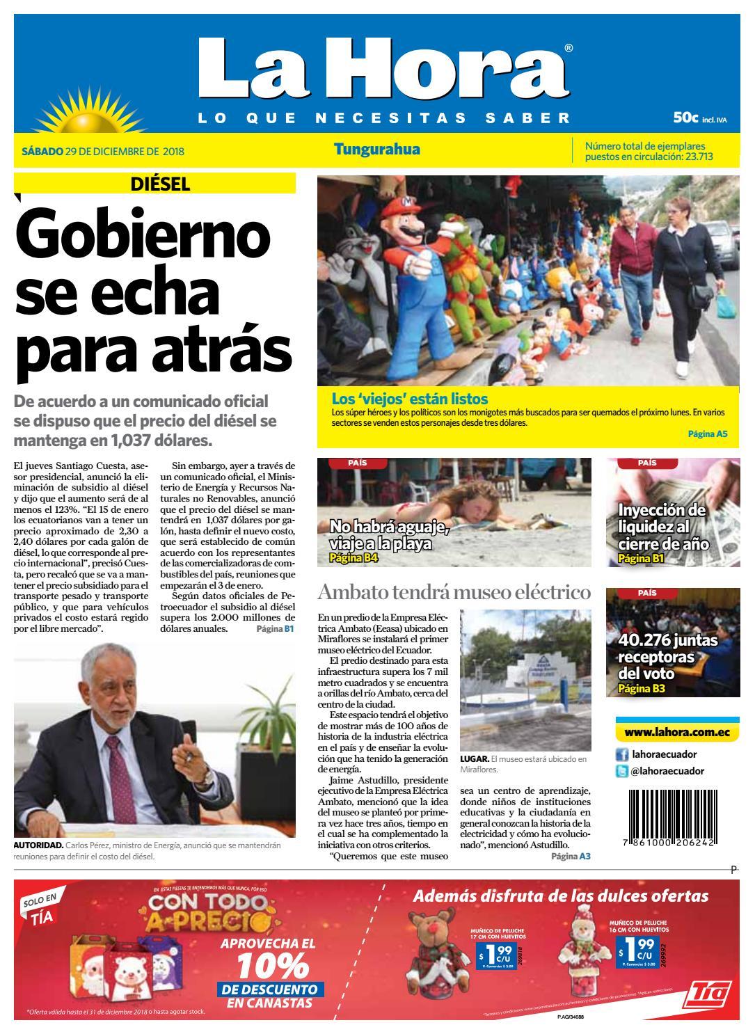 Ambato 29 de Diciembre del 2018 by Diario La Hora Ecuador - issuu 8a78dd8b0837c