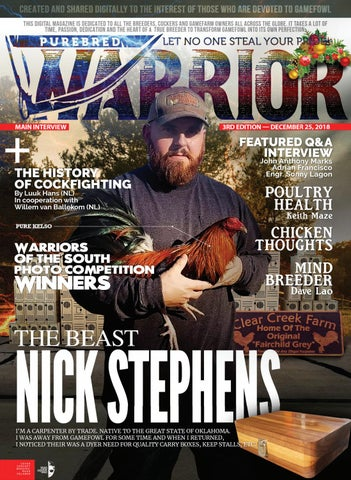 Purebred Warrior Magazine Christmas Edition - 3rd Issue Preview by