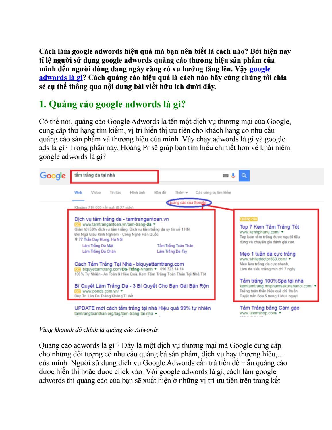 Quảng cáo Google adwords là gì? Lợi ích từ dịch vụ google adwords by Nguyễn Hoàng - issuu