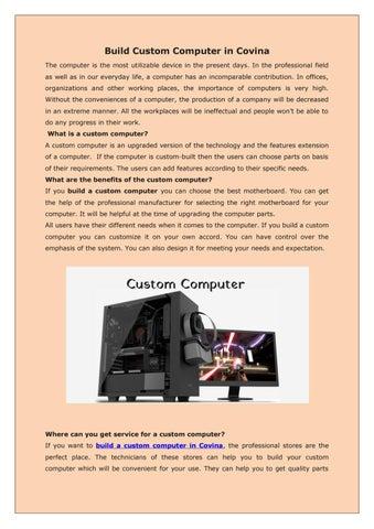 Build Custom Computer in Covina by Maxwell Brant - issuu