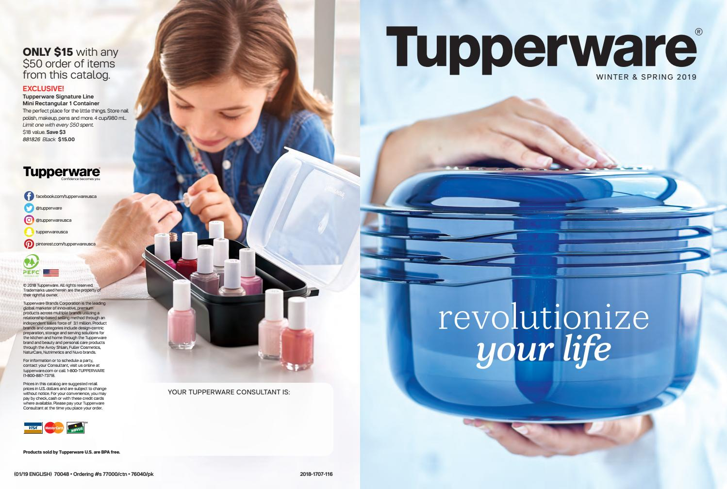 Winter Spring Catalog 2019 By Tupperware With Kisha Issuu