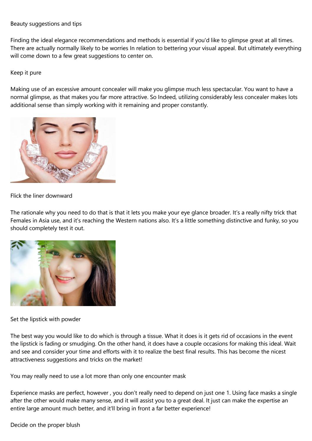 The Ugly Truth About beauty tips and tricks for skin by othlas12e