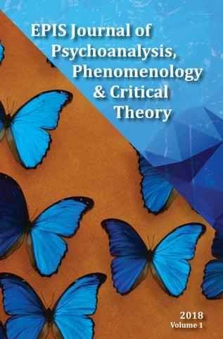 Epis Journal Of Psychoanalysis Phenomenology Critical Theory