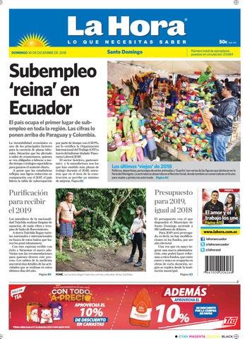 8e469cc8ad407 Santo Domingo 30 de diciembre de 2018 by Diario La Hora Ecuador - issuu