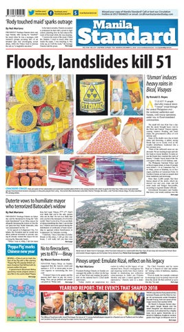 Manila Standard - 2018 December 31 - Monday by Manila Standard - issuu