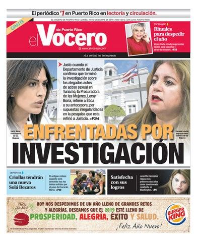 8f89206c66f5e Edición del 31 de diciembre de 2018 by El Vocero de Puerto Rico - issuu