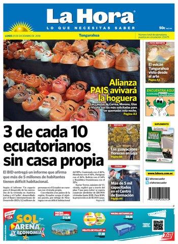 TUNGURAHUA 31 DE DICIEMBRE DE 2018 by Diario La Hora Ecuador - issuu 15583a8b2