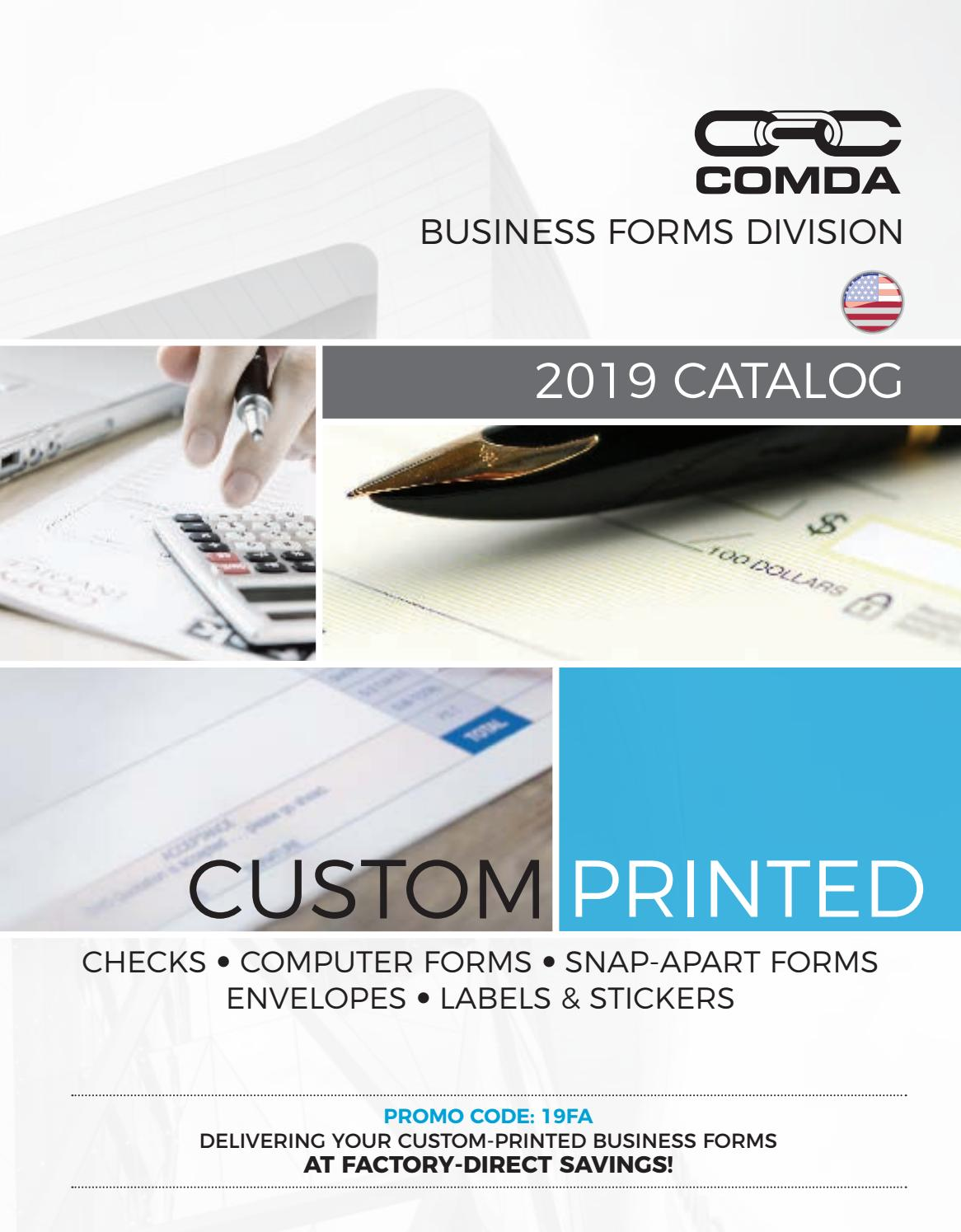 COMDA Advertising | Forms and Labels 2019 (US) by COMDA