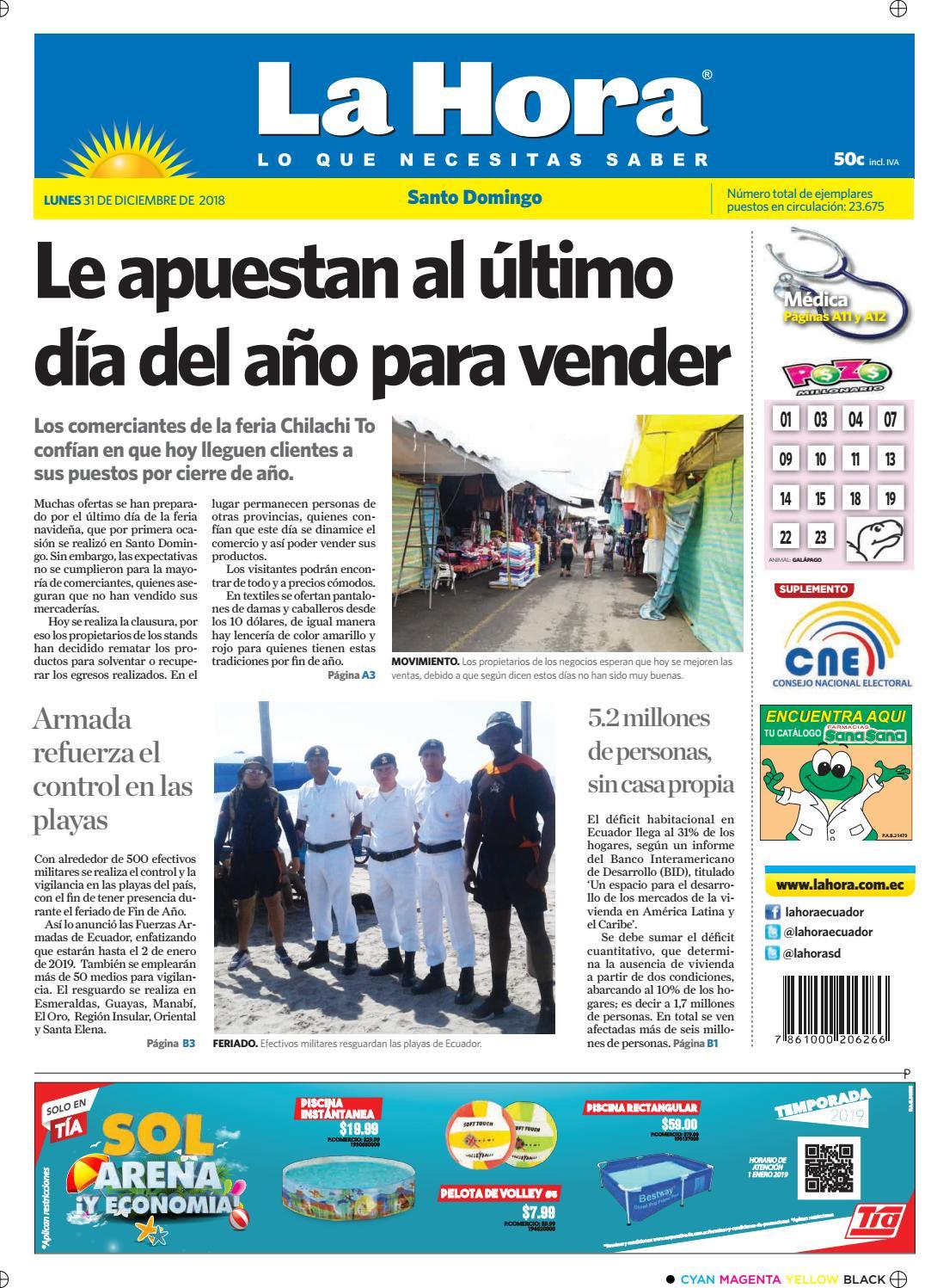 fc09c775f4b00 Santo Domingo 31 de diciembre de 2018 by Diario La Hora Ecuador - issuu