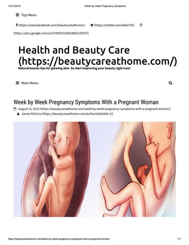Week Pregnancy Symptoms With a Pregnant Woman by beautycareathome1