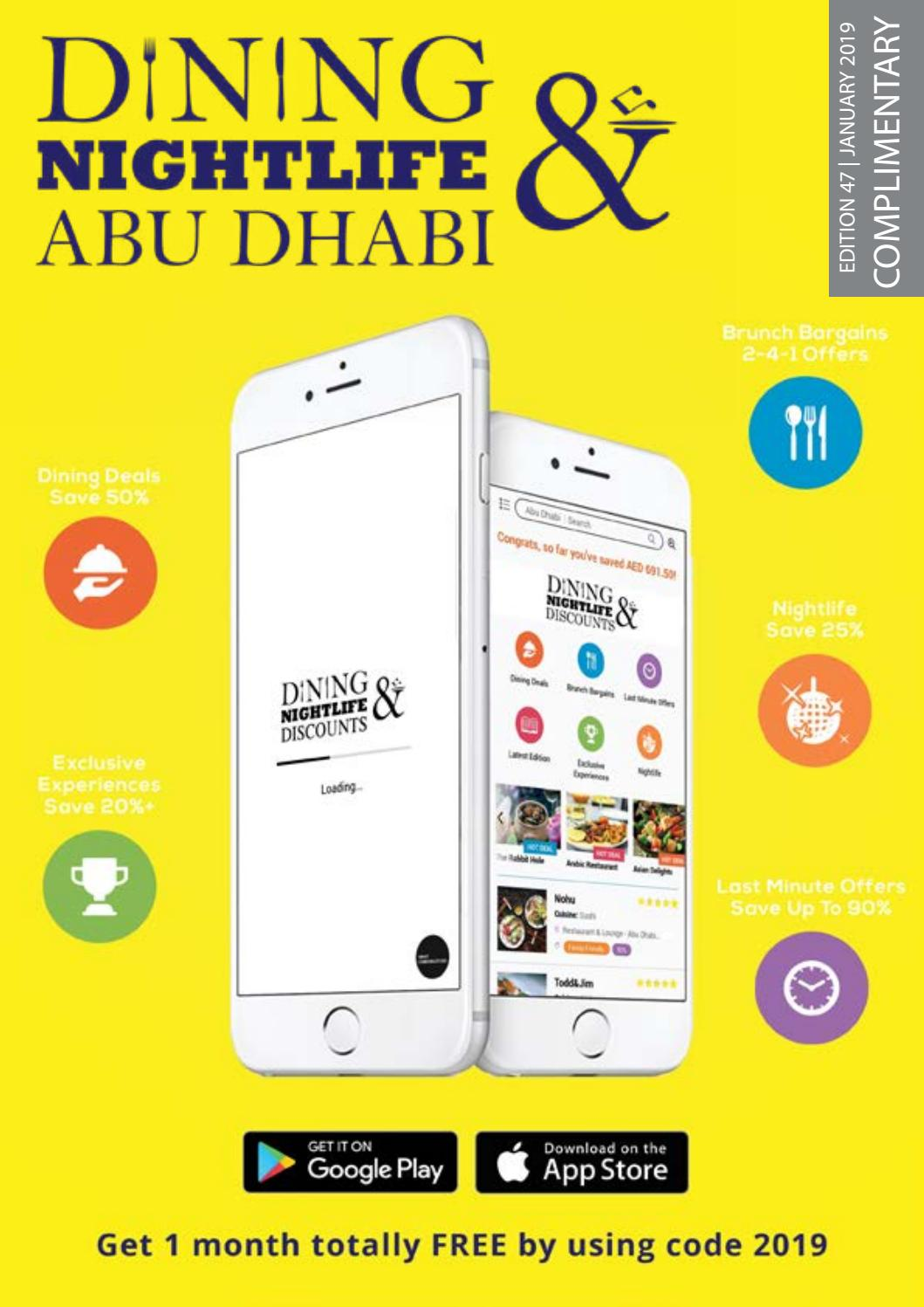 Dining & Nightlife Abu Dhabi | Edition 47 | January 2019 by
