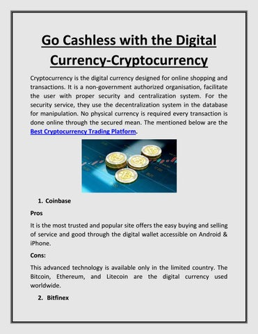 Go Cashless With The Digital Currency Cryptocurrency by Fplus - issuu