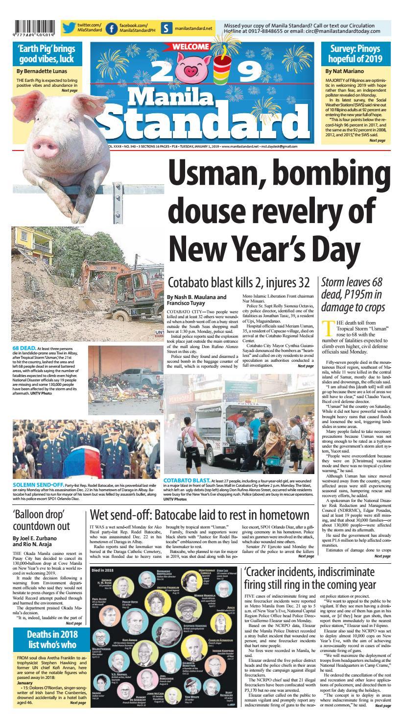 Manila Standard - 2019 January 1 - Tuesday by Manila Standard - issuu