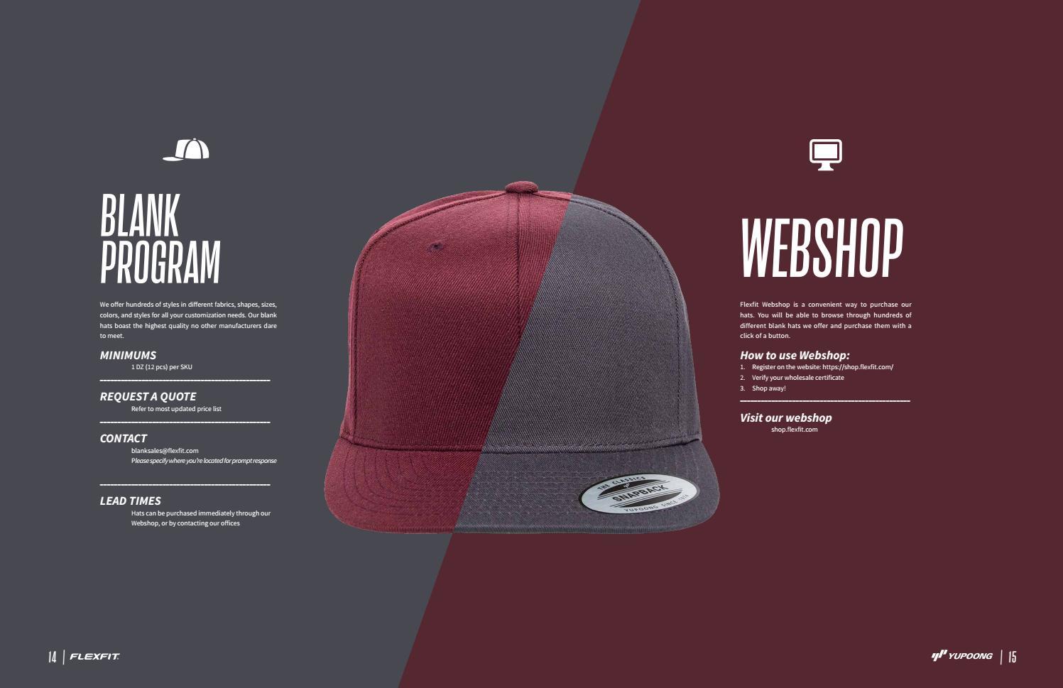 Blank Flexfit Hats Wholesale