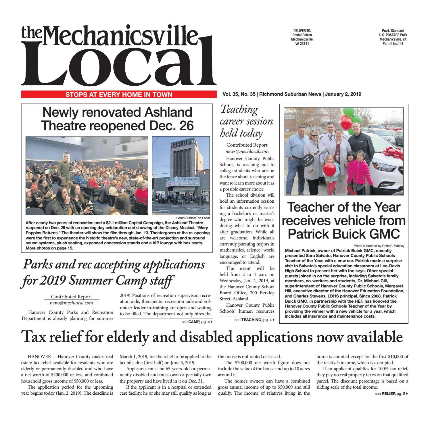 01/02/19 by The Mechanicsville Local - issuu