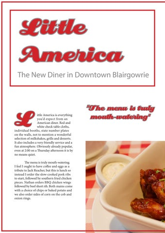 Page 26 of Little America - The New Diner in Downtown Blairgowrie