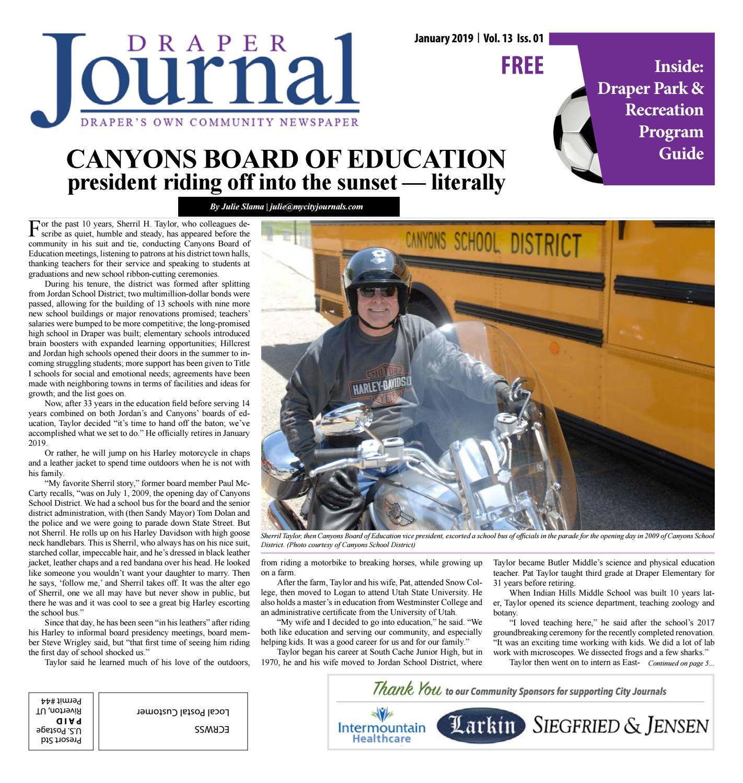93860b7acd Draper Journal January 2019 by My City Journals - issuu