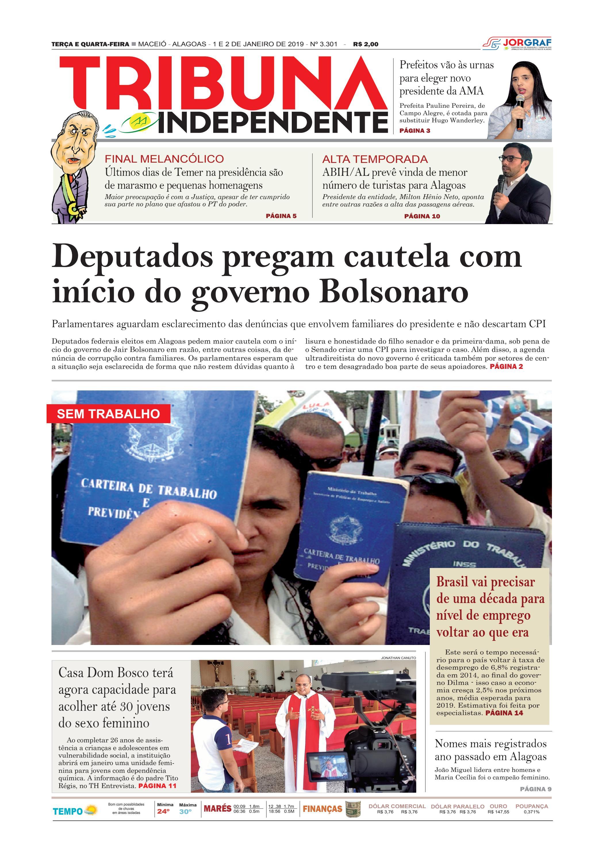 4338ef01f Edição número 3301 - 1 e 2 de janeiro de 2019 by Tribuna Hoje - issuu
