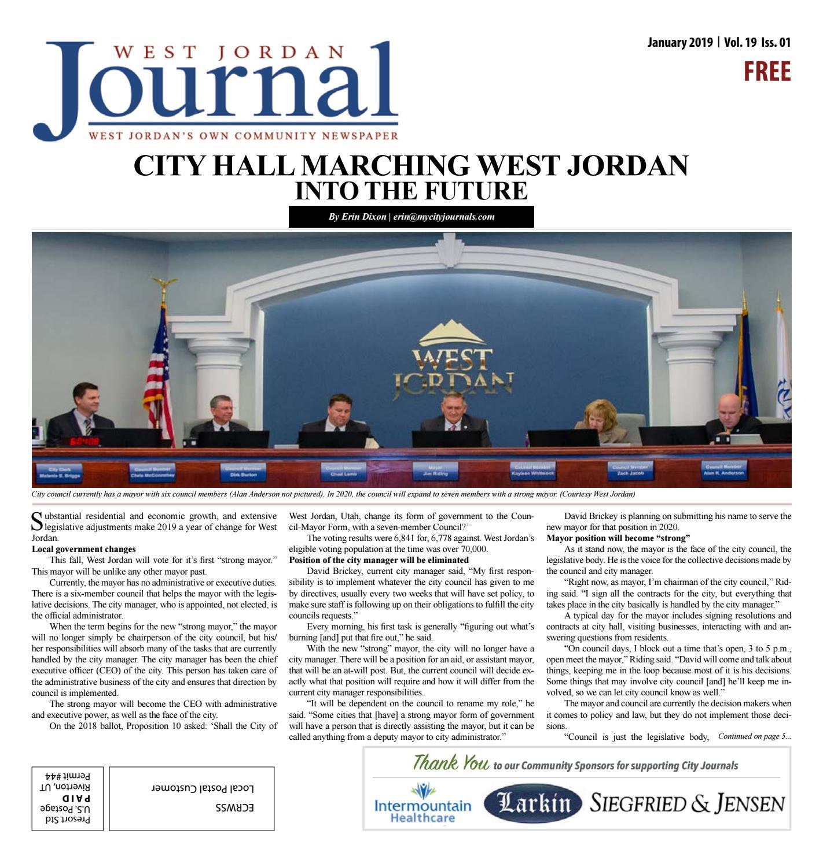 san francisco 60efd d04ce West Jordan Journal January 2019