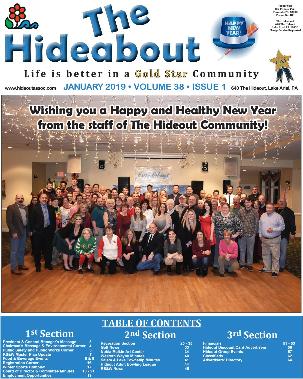 The Hideabout January 2019 by The Hideout - issuu