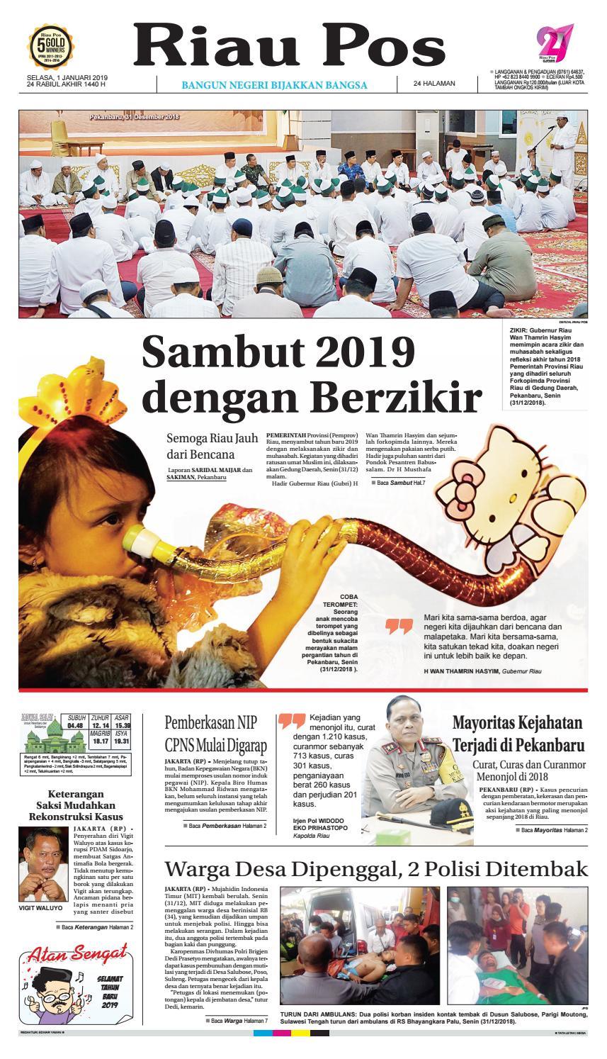 Riau Pos Edisi Selasa 01 Januari 2019 by Riau Pos - issuu 6ac78a9907