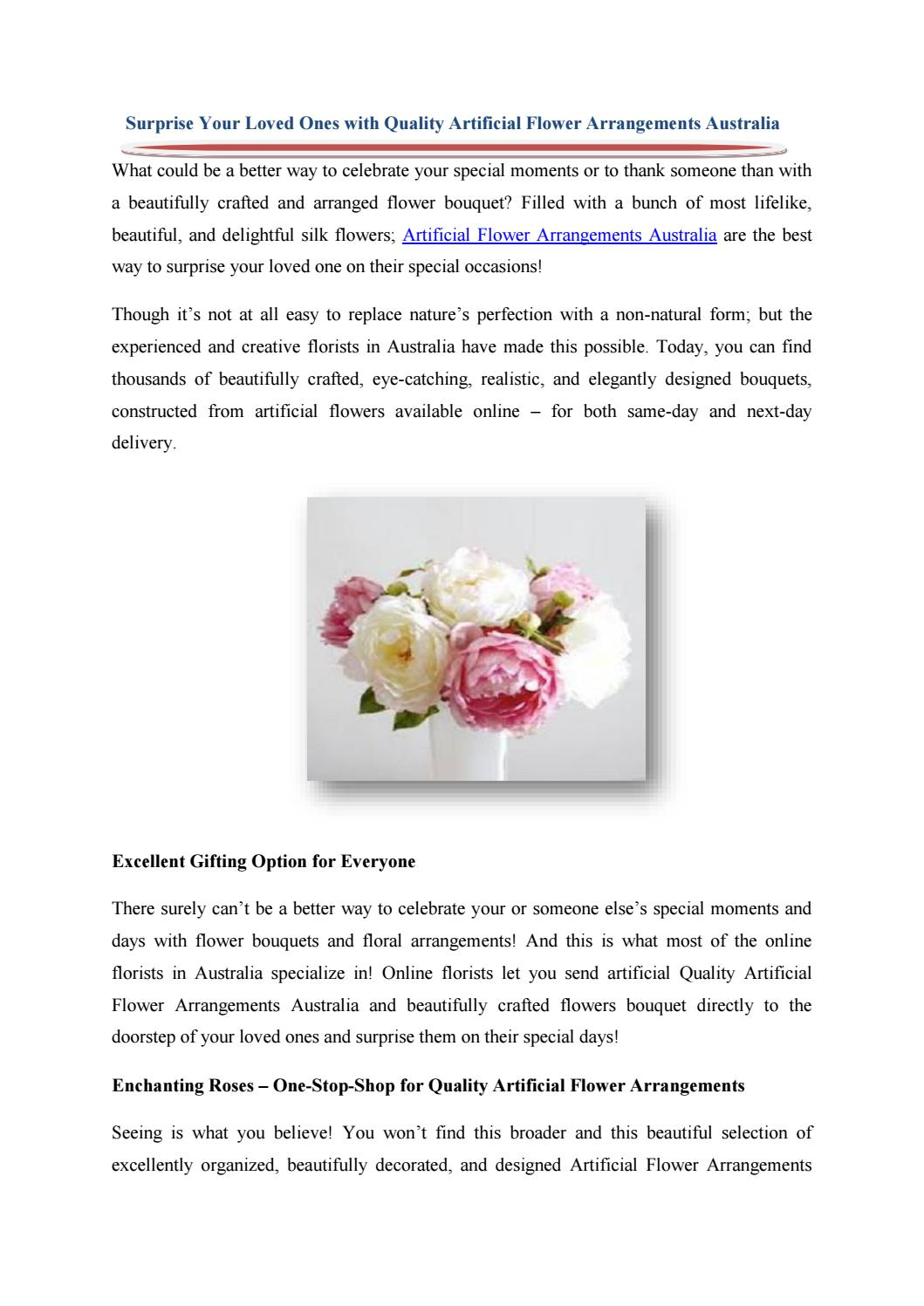 Surprise Your Loved Ones With Quality Artificial Flower Arrangements