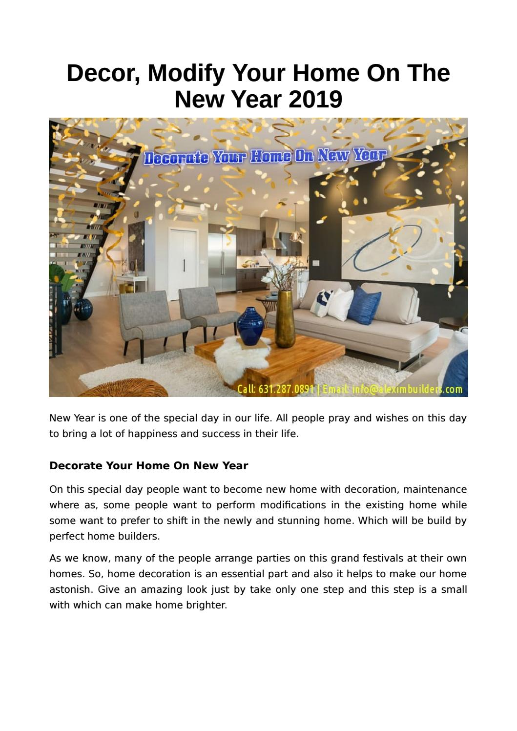 Decor Modify Your Home On The New Year 2019 By Alexim