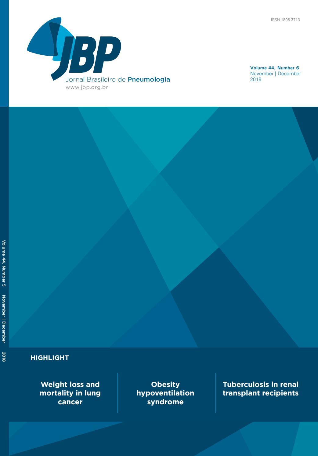 Jbp Volume 44 Number 6 Novemberdecember 2018 By Jornal